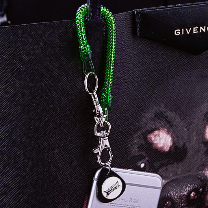 Dark Green Bungee with Black  Z-Tab on purse